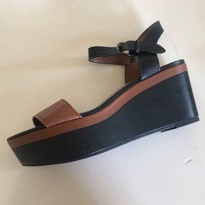 COACH wedge platform sandals